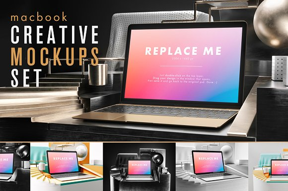 Macbook Creative Mockups Set