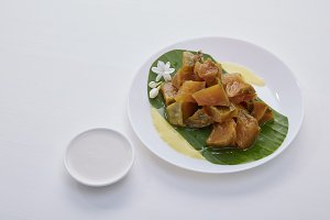 Thai dessert food with Pumpkin