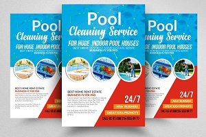 Swimming Pool Cleaning Flyer