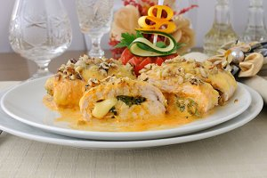 Chicken breast stuffed with spinach