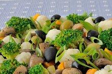 Vegetable stew with mushrooms