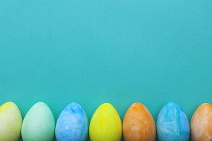 Colored Easter eggs paper backdrop