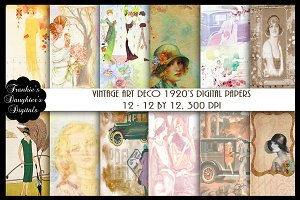 Vintage Art Deco 1920's Papers