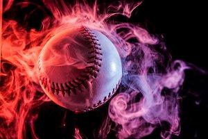 White baseball ball