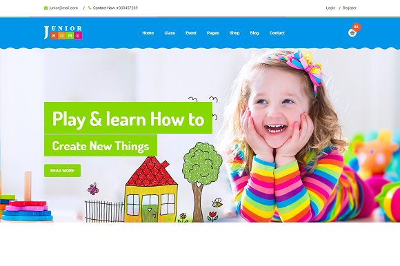 JuniorHome -Day Care School Template