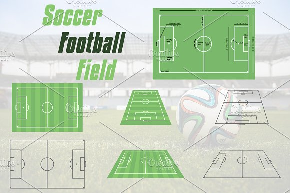 Football Soccer Field Court
