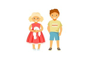 Fashion kids vector