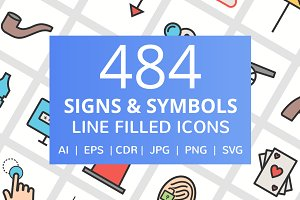 484 Signs & Symbols Filled Line Icon