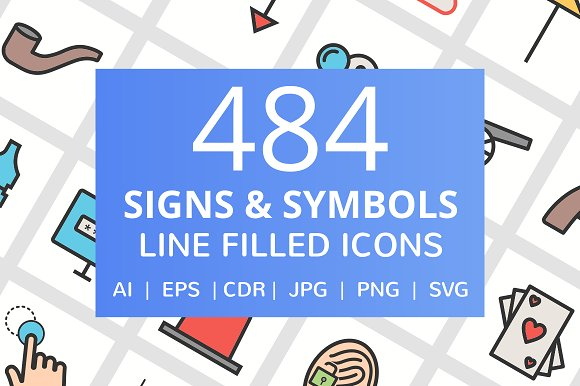 484 Signs Symbols Filled Line Icon