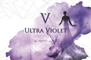 Violet wedding invitation suite