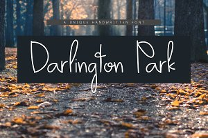 Darlington Park - Handwritten Font