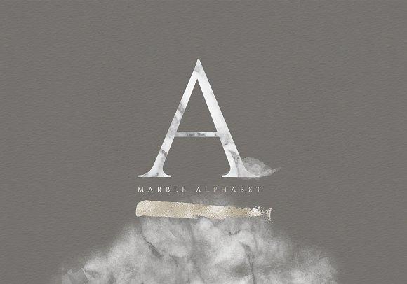 Marble Alphabet Design Elements