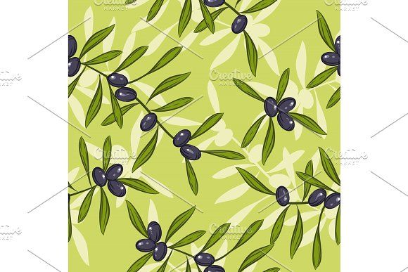 Seamless Realistic Olive Oil Background