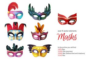Carnival Masks Realistic