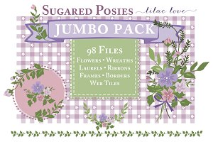 Purple Floral Web Bundle