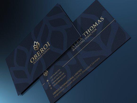 Luxury business card business card templates creative market colourmoves