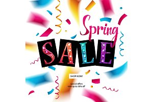 Spring sale. 3 formats. Single style