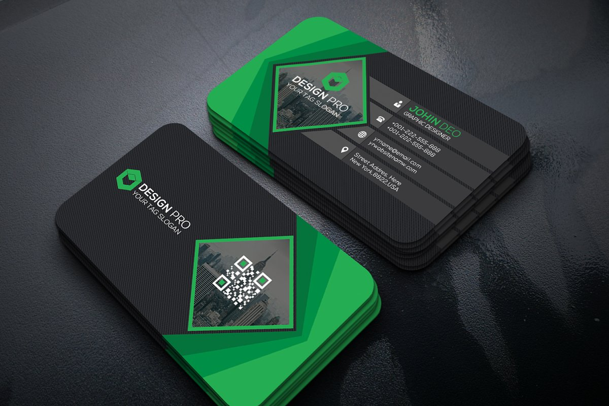 Corporate business card in Business Card Templates - product preview 1