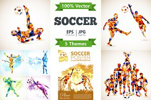 Soccer Posters in Mosaic Pattern