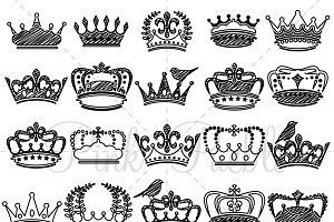 Doodle Crown Clip Art and Vectors