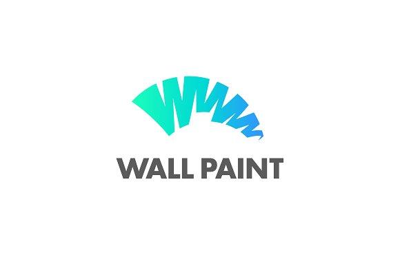 wall paint logo logo templates creative market