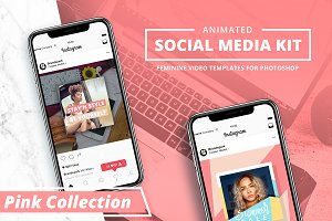ANIMATED - Pink Social Media Booster
