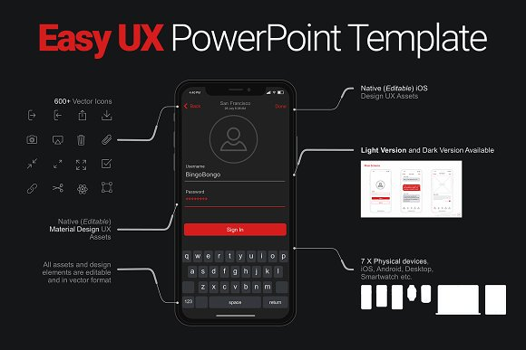 Easy Ux Powerpoint Template Presentation Templates Creative Market