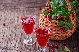 Forest cranberry cocktail