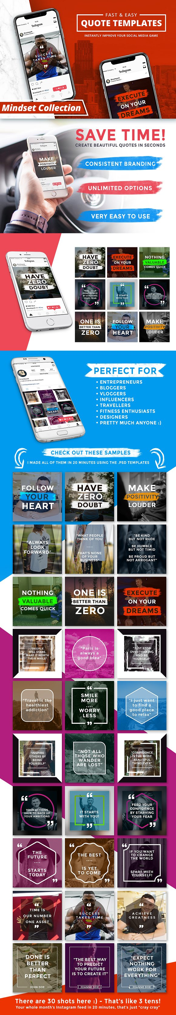 35 ready to post social media quote packs creative market blog quick and easy quote templates stopboris Images