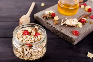 Healthy Breakfast set Granola