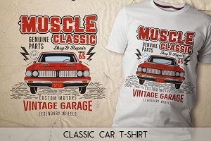 Muscle Classic T-Shirt Design