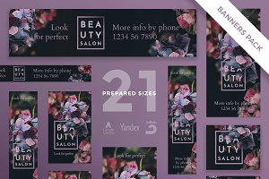 Banners Pack | Beauty Salon