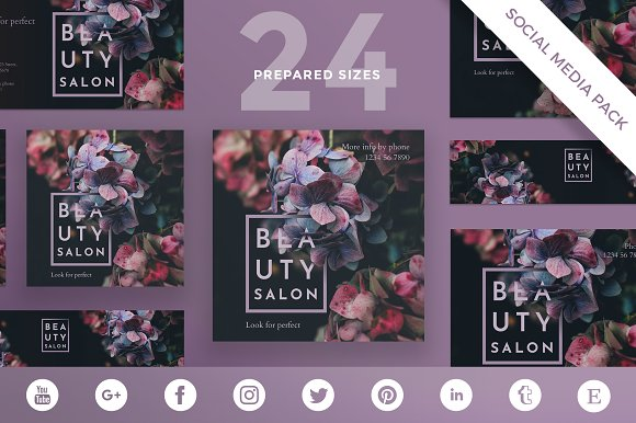 Social Media Pack Beauty Salon