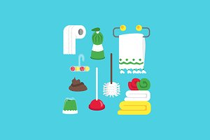 Poop, cleaning equipment and soap
