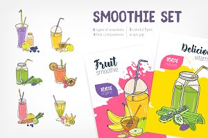 Smoothies - banner, set