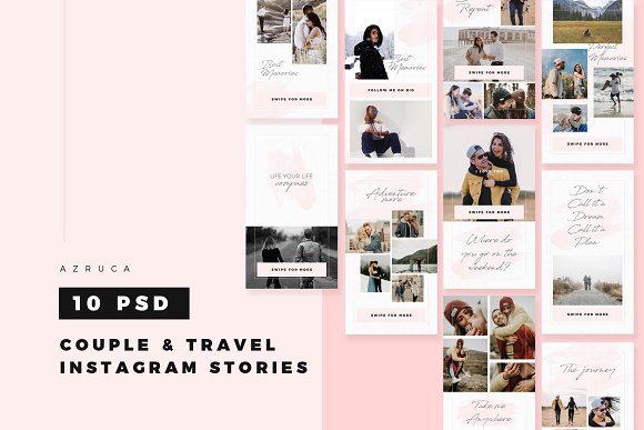 Couple Travel Instagram Stories