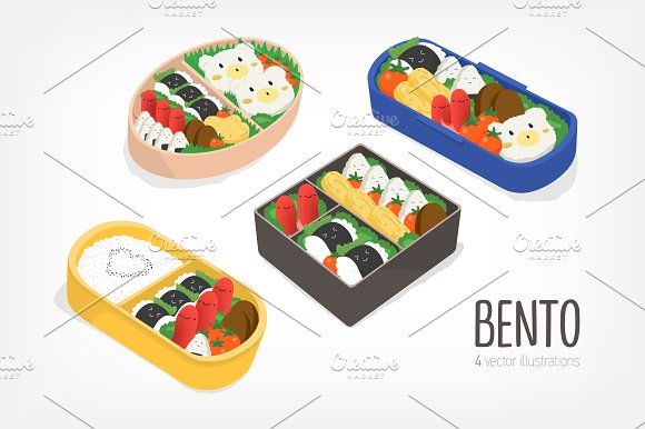 Set Of Bent Japanese Lunch Boxes