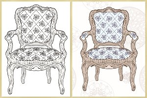 Luxurious Chair. Vector Illustration