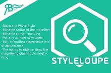 "Widget ""[YV] StyleLoupe"" Adobe Muse"