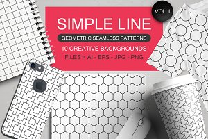 Seamless geometric patterns vol 1