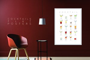 Cocktails Flat Posters