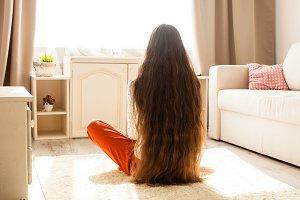 Very long hair