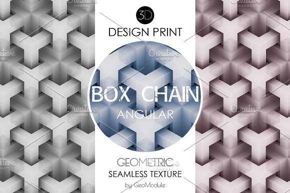 BOX CHAIN Angular 3D Design Print