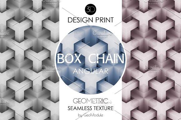 BOX CHAIN Angular 3D Design Print