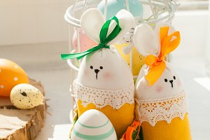 Easter textile basket