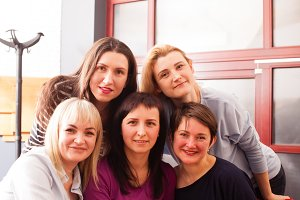 Corporate female staff