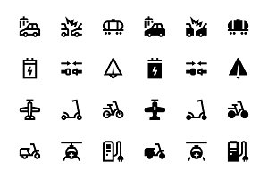 34 Transport icons