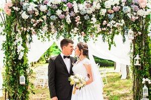 Wedding couple outdoor