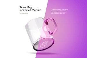 Glass Mug Animated Mockup