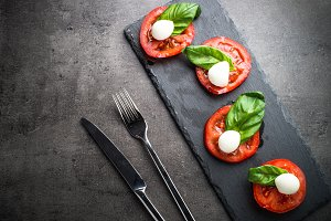 Traditional italian caprese salad